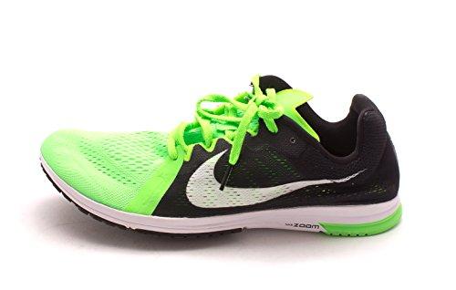 Nike Zoom Streak LT 3, Zapatillas de Deporte Unisex Adulto, Negro/Blanco/Verde (Black/White-Voltage Green), 38 1/2 EU
