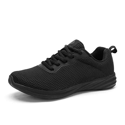 DREAM PAIRS Women's All Black Lightweight Walking Sneakers Mesh Tennis Shoes Size 6 M US Rider