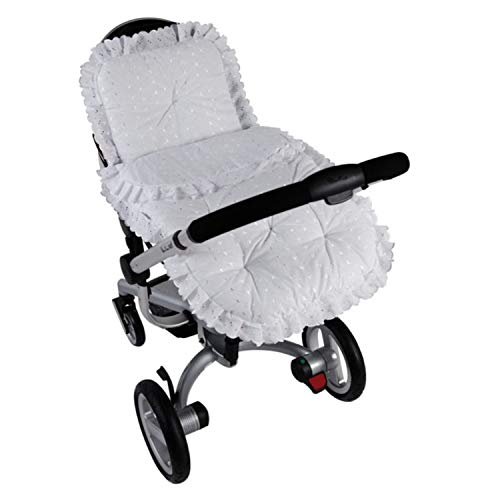 Clair de Lune Broderie Anglaise Universal Continental Pram/Pushchair Set in White
