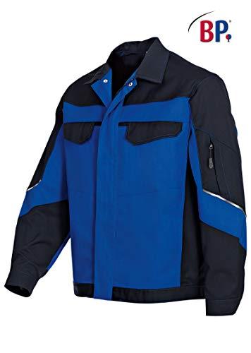 BP 1607-559-13-52/54n Arbeitsjacke, Verdeckter Reißverschluss und Taschen, 245,00 g/m² Stoffmischung, königsblau/schwarz ,52/54n