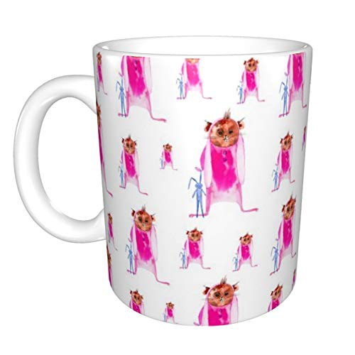 Ye Hua Taza de Conejillo de Indias con Disfraz de Conejito Rosa, Esta es una Taza Personalizada, Esta es una Taza de caf para Dama, Linda Taza de 11 oz