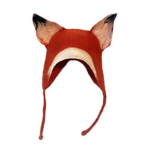 XIEWEICHAO Laine d'origine Animale Fait Main Feutre Fun Enfant Parent-Enfant Oreille Autum Couverture d'hiver Art Chapeau Chaud (Color : 1, Size : 55-59CM)
