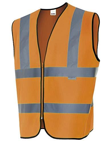 VELILLA 305901 / Chaleco Profesional Alta Visibilidad (3XL, Naranja)