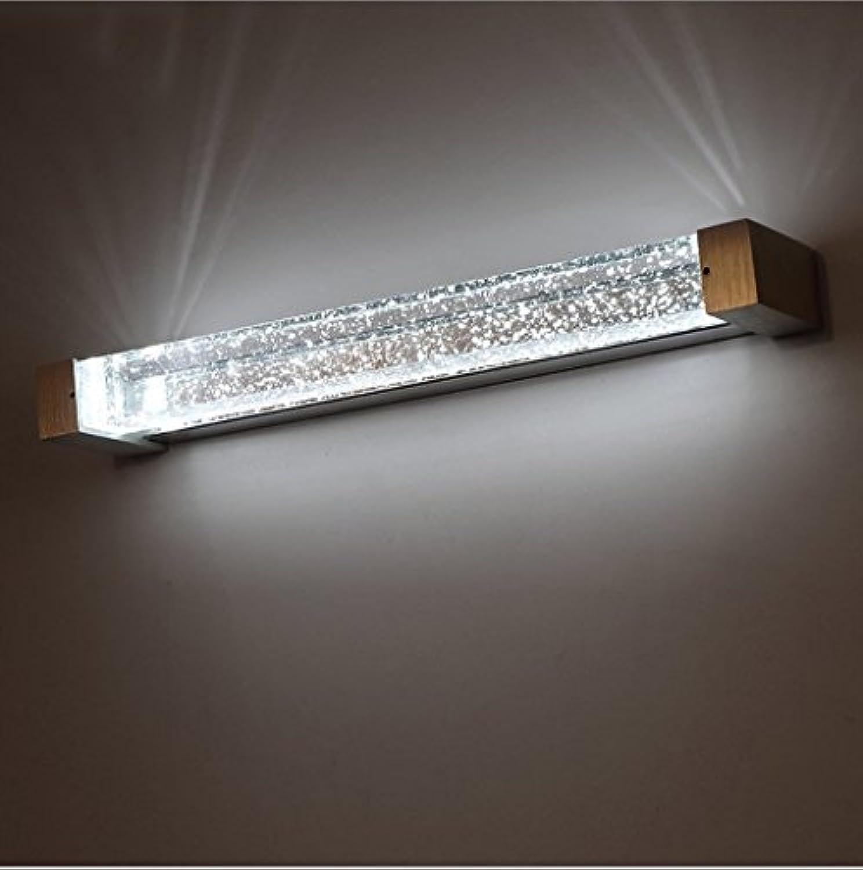 Wandlampe LED Badezimmer Moderne einfache Blase Spalte Kristall Spiegel Kabinett Lichter Make-up Spiegel Lampe Schlafzimmer Wand Lampe (gre   C-long62cm)