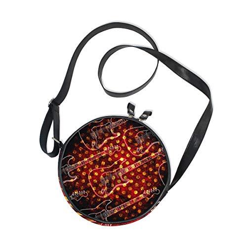 Ahomy - Bolso bandolera de lona para mujer, diseño de guitarra eléctrica