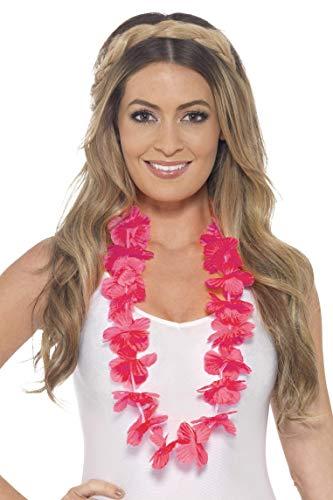 Smiffys Damen Hawaii Blumenkette, One Size, Neon Pink, 45557