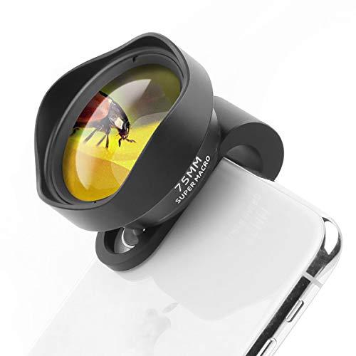 ULANZI 10X Macro Phone Camera Lens,75mm Super Macro Clip on Mobile Phone Lens for iPhone 11 Pro Max X XS Max 8 Plus Pixel Samsung Galaxy OnePlus