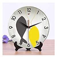 WFL クロック セラミック置時計ミュートセラミッククロック中国風のリビングルームの壁掛け時計クロック兼用10、12インチクロック置時計 最新の (Color : C, Size : 12inches)