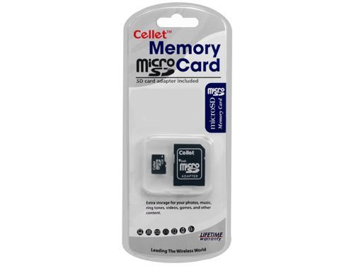 Cellet 4GB MicroSD for Panasonic ELUGA Smartphone Custom Flash Memory, high-Speed Transmission, Plug