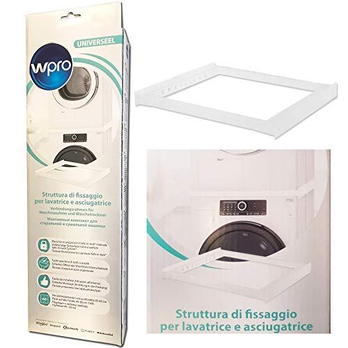 Wpro - Kit universal para lavadora y secadora Estructura de fijación para superposición.
