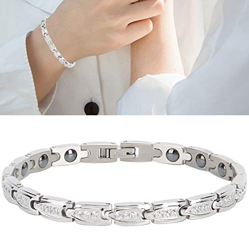 Magnetic Bracelet, Elegant Health Bracelets for Pain Relief Stainless Steel Magnetic Bracelet for Women Bangle Jewelry Arthritis Bracelet