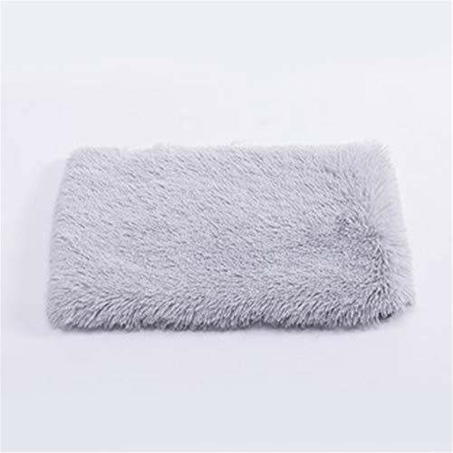 XYBB huisdier bed hond lange pluche bedden hond kat huisdier winter warme matten bont bed pad zelf warmte tapijt thermische, 35*50cm, Grijs