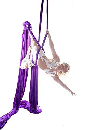 Antigravity Yoga Amacadi Yoga Amaca Per Pilates Altalena Amaca Altalena Yoga Attrezzatura Per Danza Aerea YOGA SWING Aerial Silks Amaca 10M (Viola)