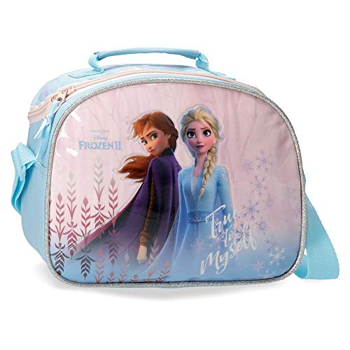 Disney Neceser Frozen True to Myself Adaptable a Trolley con Bandolera, Azul