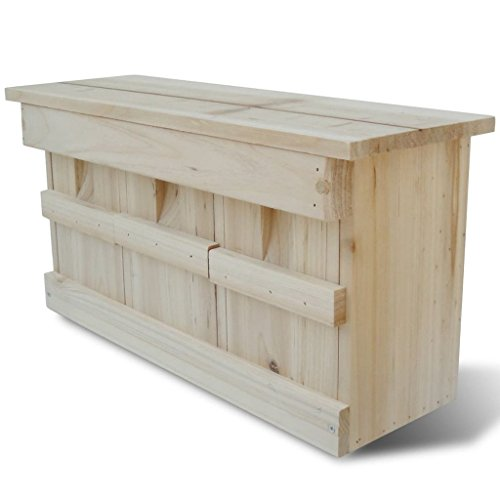 FZYHFA Moineaux de Nichoir oiseau moineau Nichoir en bois 44 x 15,5 x 21,5 cm