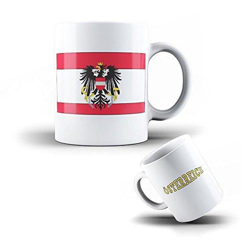 Tasse Mug en Ceramique Autriche - Drapeau Autrichien