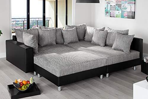 Ecksofa Couch –  günstig Design mit Hocker LOFT Bild 3*