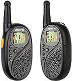 Retevis RT35 Walkie Talkie Niños PMR 446 Recargable sin Licencia 16 Canales Linterna LED VOX Cargador USB Mini Walkie Talkie (Negro, 1 Par)