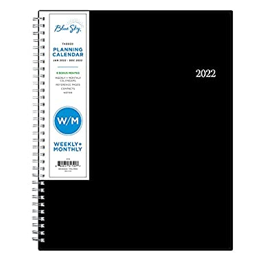 Blue Sky 2022 Weekly & Monthly Planner, 8.5″ x 11″, Flexible Cover, Wirebound, Enterprise (131790)