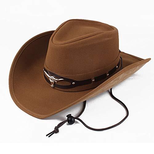Sombrero Grande de los Hombres a lo Largo del Sombrero de Vaquero Occidental Protector Solar Sombrero de Sol de los Hombres y Las Mujeres Universal,C