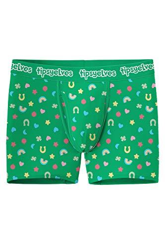 Tipsy Elves St. Patrick's Day Herren Boxershorts - St. Paddy's Unterwäsche für Jungs - grün - XX-Large