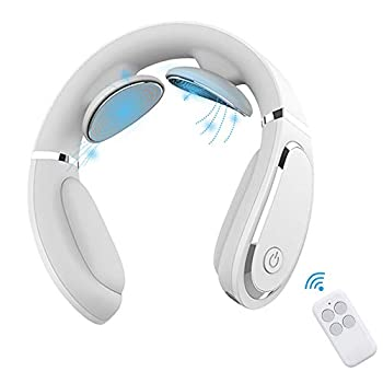 Neckology Intelligent Neck Massager with Heat,Electric Pulse Neck Massager for Pain Relief,Wireless Neck Massager for Women