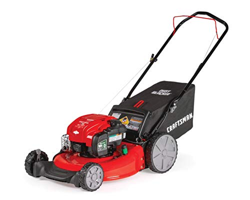CRAFTSMAN M125 163cc Briggs & Stratton 675 exi 21-Inch 3-in-1 Gas Powered Push Lawn Mower with Bagger