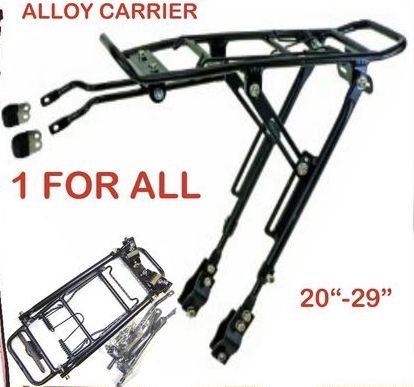 Bicycle cycle alloy rear rack carrier bracket bike...