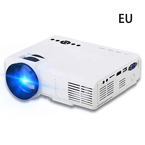 chinejaper projector standaard 1080p LED-videoprojector, display voor tv-stick, videospel, blauwe ray-dvd-speler, smartphone-thuisbioscoop, dual-USB-aansluiting