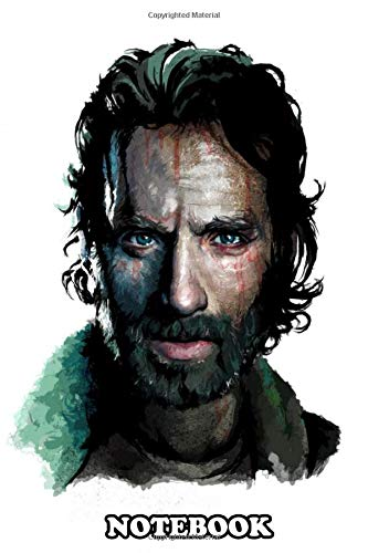 Notebook: The Walking Dead Rick Grimes Portrait , Journal for Writing, College Ruled Size 6' x 9', 110 Pages