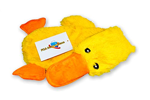 FGA MARKETPLACE Duck Flat NO Stuffing NO Squeak Plush Dog Toy, Funny Style Will Entertain Your Dog for Hours, Recommended for Small and Medium Dog 21 INCH Long