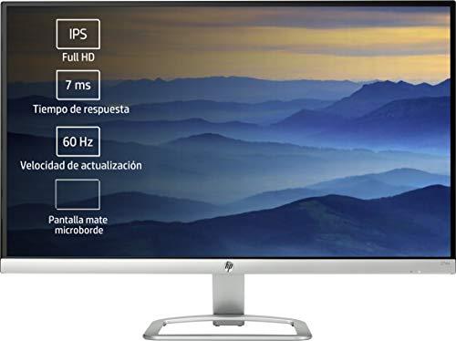 HP 27ea – Monitor de 27'' con Altavoces (FHD, 1920 x 1080 a 60 Hz, IPS con retroiluminación LED), Blanco