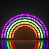 ZWOOS Luz de neón para dormitorio - Señales luminosas LED alimentada por batería o USB -...