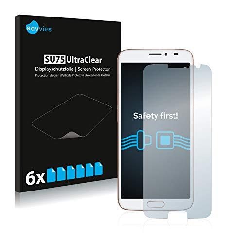 Savvies 6X Schutzfolie kompatibel mit Doro 8080 Bildschirmschutz-Folie Ultra-transparent