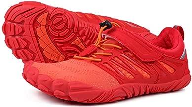 Joomra Women Barefoot Trail Running Shoes Ladies Wide Minimalist Runners Size 7.5-8 Exercise Trekking Sneakers Gym Antislip Toes Hiking Cycling Footwear Orange 38