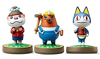 Amiibo 3 Pack Set [Rover/Mr Resetti/Lottie]   Animal Crossing Series  for Nintendo Switch - Switch Lite - WiiU - 3DS -  Bulk Packaging