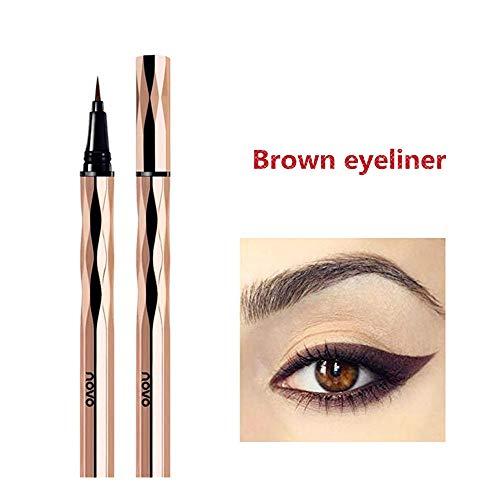 Wasserdichter Eyeliner, brauner flüssiger Eyeliner, wasserdichter, fäulnishemmender, lang anhaltender flüssiger Eyeliner