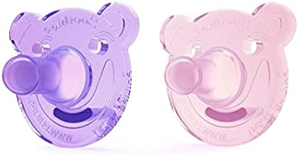 Philips AVENT Bear Shape Pacifier, 0-3ヶ月, 2 Count (ピンク&パープル) 海外直送品