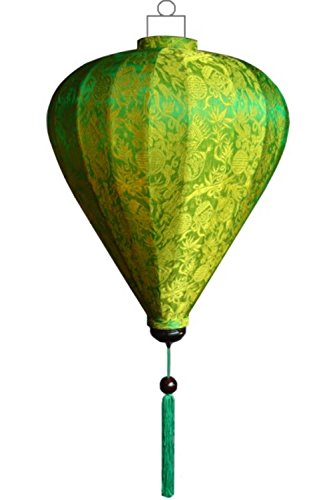 Lampionsenzo Vietnamesische Seide Lampion Ballon Grün by