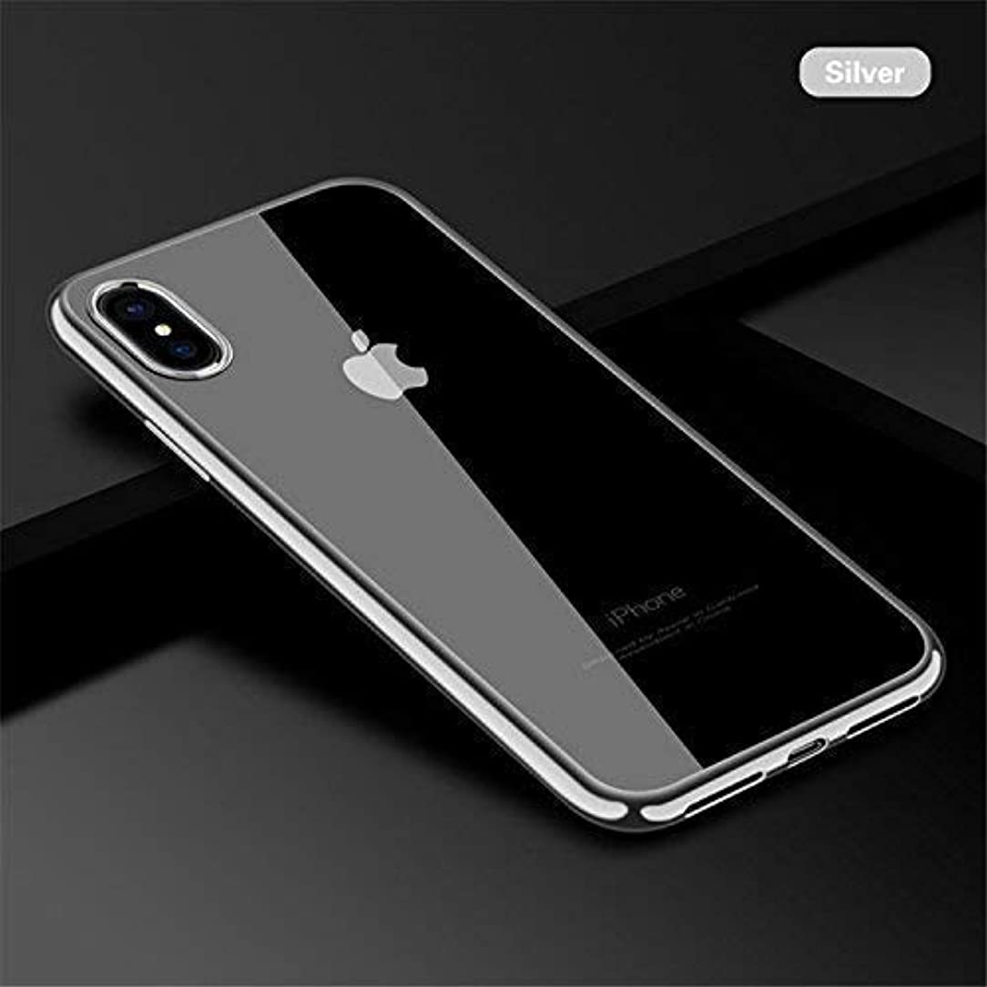 iPhone Xs Case/iPhone X Case, Ultra Thin Slim Fit Soft Silicone TPU Cover Case Compatible with iPhone X/iPhone Xs 5.8 inch (Silver)