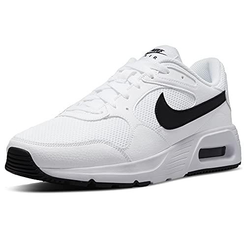Nike Air MAX SC, Zapatillas Hombre, Blanco, Negro y Blanco, 45.5 EU