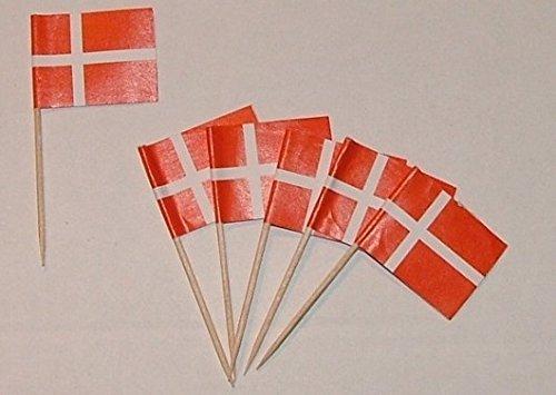 U24 Flaggen Zahnstocher Dänemark Flagge Fahne Minipicker