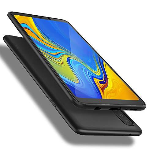 X-level Samusung Galaxy A9 2018 Hülle, [Guardian Serie] Soft Flex Silikon Premium TPU Echtes Handygefühl Handyhülle Schutzhülle für Samsung Galaxy A9 (2018) Hülle Cover - Schwarz