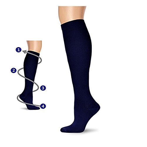 MIXSNOW 6 Pairs Compression Socks for Men and Women for Running, Nurses, Flight, Pregnancy & Maternity...