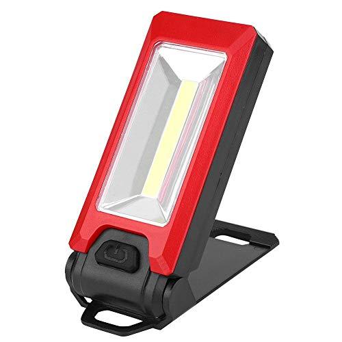 Lámpara de Emergencia, luz de Trabajo, Cubierta de plástico con Pilas de Bolsillo de 3W para Pesca y Camping((Red))