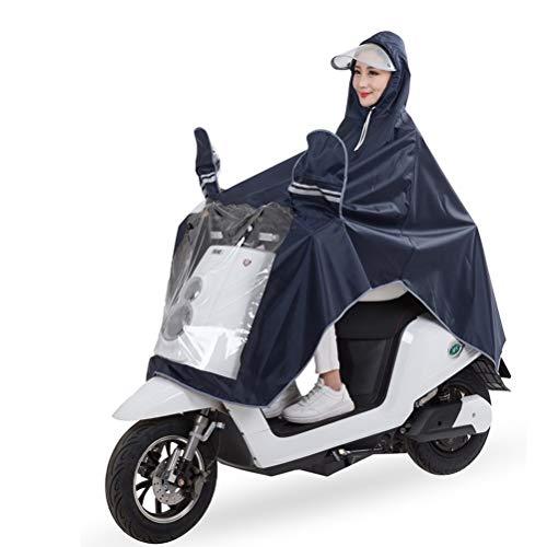 Mens Womens Regenmantel Motorrad Regen Poncho Wasserdicht Große Regen Cape Elektromobilität Roller Fahrrad Regen Abdeckung mit Spiegel Slots und Reflektierende Streifen, 3XL (Farbe : Tibetan Cyan)