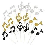 Healifty Tortenpapier, Glitzer, Musiknoten, Geburtstag, Babyparty, Weihnachten, Partyzubehör