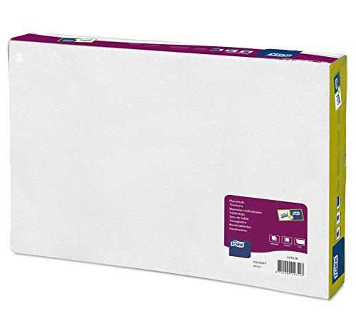 Tork 474538 Manteles individuales desechables Advanced / 1 capa / Salvamanteles de papel / 500 manteles / 42 cm x 27 cm / color blanco