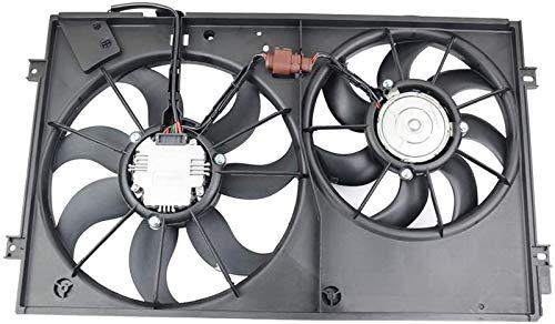 620-843 Engine Radiator Dual Cooling Fan Assemblyfor Volkswagen Beetle Golf Jetta PassatRabbitPart# 1K0959455R