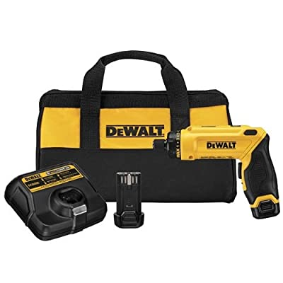 DEWALT 8V MAX Cordless Screwdriver Kit, Gyroscopic, 2 Batteries (DCF680N2) from Dewalt